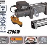 Troliu Electric 12 V - 3620kg telecomanda pe fir, Raider - Troliu Auto