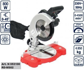 Ferastrau circular fix 800W, Raider RD-MS02 foto