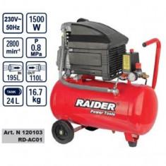 Compresor 24L, 1500W, Raider RD-AC01 - Compresor Service