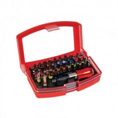 Set 32 biti, cu maner, cutie plastic, Strend Pro EVE-12083, profesional - Surubelnita/Inbus