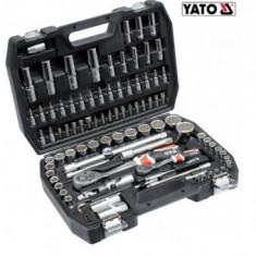 Trusa chei tubulare si biti, 94 piese, Yato YT-12682 - Trusa scule auto