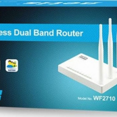 Router Wireless Netis WF2710 750Mbps Dual Band, Porturi LAN: 4