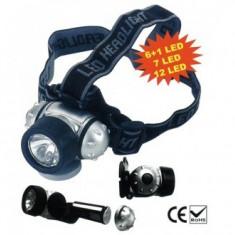 Lanterna cu led-uri pentru cap, Strend Pro HeadLight HL2212, 12xLED, 3xAAA - Lampa cu LED Service