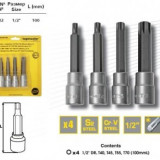 Set 4 biti torx T40-T70, 100mm, din Cr-V, Topmaster