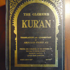 The Glorious Kur'an (Coranul, lb engleza-araba), 1973 - Carti Islamism