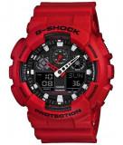 Casio GA-100B-4ACR G-Shock ceas barbati nou 100% original. Garantie., Sport, Quartz, Inox