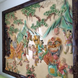 Tablou Pictura Murala Dinastia Qing (Qianlong) Republic Of China 1900