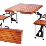 Masa pliabila de picnic, din lemn sau aluminiu