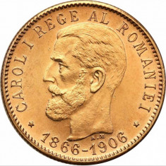 Moneda aur 20 lei 1906 Romania - Moneda Romania