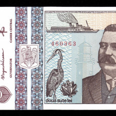 ROMANIA, 200 LEI 1992, UNC_Antipa_serie D.0006~460363 - Bancnota romaneasca