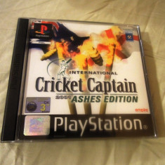 Cricket Captain 2001 Ashes Edition playstation one, PS1, alte sute de jocuri Altele, Sporturi, 3+, Multiplayer