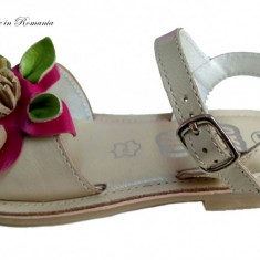 Sandale fetite piele naturala bej - cod DOL14, Marime: 35, 36