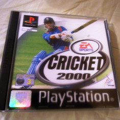 Cricket 2000 playstation one, PS1, alte sute de jocuri Ea Sports, Sporturi, 3+, Multiplayer