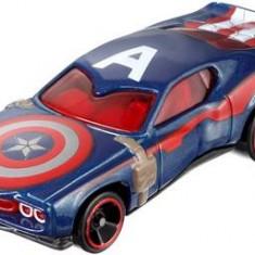 Jucarie Hot Wheels Marvel Character Cars Captain America - Masinuta