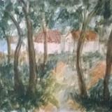 MARGINE DE PADURE, Peisaje, Acuarela, Impresionism