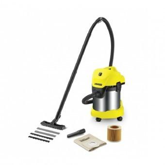 Aspirator Karcher WD 3 Premium, Aspirare umed/uscata, 17 l, Furtun 2 m, 1000 W, Sac filtru din hartie, Functie de suflare foto