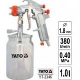 Pistol de vopsit cu rezervor metalic - duza 1, 8mm, YATO YT-2346