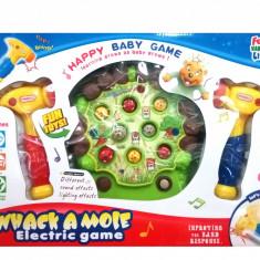 Jucarie distractiva cu ciocan si animalute pentru bebelusi (sunete si lumini)