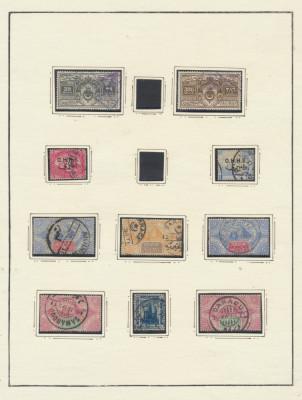 RFL Egipt colectie 28 timbre clasice si postclasice lipite pe foi vechi de album foto