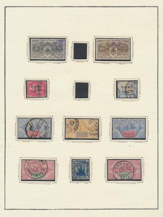 RFL Egipt colectie 28 timbre clasice si postclasice lipite pe foi vechi de album