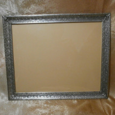 Rar! Rama foto, oglinda Art Deco, laminaj argint, gravura manuala