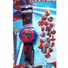 Ceas pentru copii cu proiectie de lumini SPIDERMAN - SK548 - Ceas copii