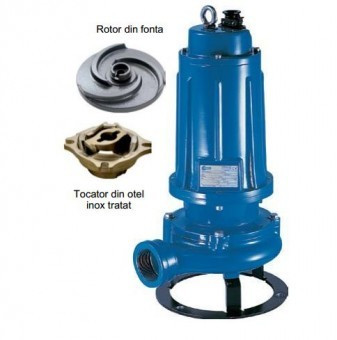 Pompa submersibila cu tocator Pentax DTRT300, 2.2kW foto mare