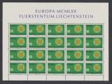 1970 Liechtenstein EUROPA colita 20 timbre model retea nestampilate