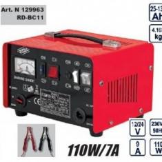 Redresor Auto Raider Power Tools 12/24V, Raider RD-BC11 110W/7A, Sub 8