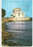 @ carte postala(ilustrata)-CONSTANTA-Restaurant Cazino, Circulata, Printata