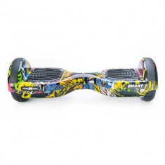Scooter Electric Freewheel Smart Graffiti Galben - Hoverboard