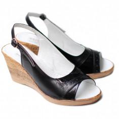 Sandale dama din piele naturala cu platforma - Made in Romania, Marime: 35, 36, 37, 38, 39, 40