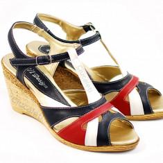 Sandale dama din piele naturala cu platforma - cod ROV47S, Marime: 35, 36, 37, 38, 39, 40