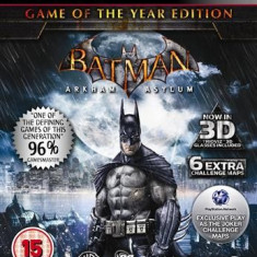 Batman Arkham Asylum Game Of The Year Edition Ps3 - Jocuri PS3 Square Enix