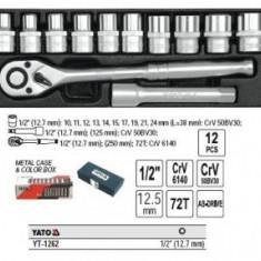 TRUSA TUBULARE 12 PIESE 1/2'', 10-24mm, YATO, YT-1262