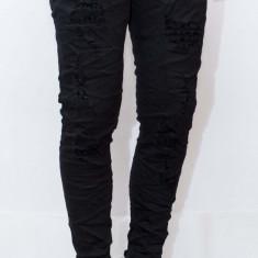 Blugi tip Zara Man- blugi barbati blugi negri blugi slim blugi rupti cod 96