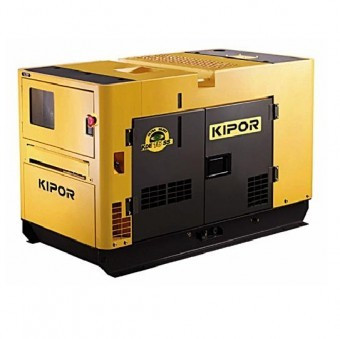 Generator diesel insonorizat monofazat 13 kVA, Kipor KDE 16 SS foto mare
