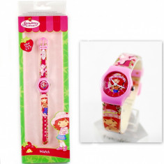 Ceas cu Capsunica, un cadou minunat pentru fetite + Cutie imprimata - Ceas copii