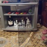 Masa televizor living geam securizat cu sistem magnetic suport rotativ