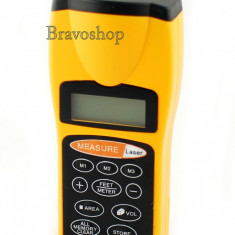 Ruleta laser cu indicator CP-3007 ultrasonic si afisare LCD - Ruleta masura