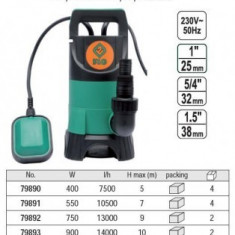 Pompa submersibila 900W pompa pentru apa murdara, Flo 79893 - Pompa gradina
