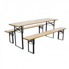 Set mobilier gradina, Strend Pro Dortmund, 220x70x77cm - Set gradina
