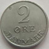 Moneda 2 Ore - DANEMARCA, anul 1960  *cod 3845 Zinc