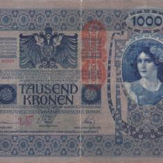 AUSTRIA 1.000 kronen 1902 F+/VF-!!!