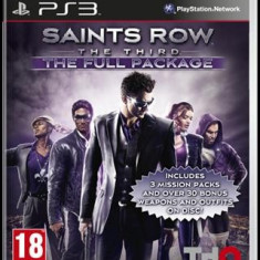 Saints Row The Third The Full Package Ps3 - Jocuri PS3 Thq, Actiune, 18+