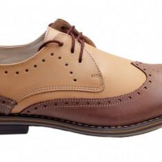 Pantofi barbati casual - eleganti din piele naturala - Oxford 411NISIP - Pantof barbat, Marime: 39, 40, 42, 43, 44