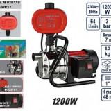 Pompa din inox cu presostat electronic 1200W, Raider RD-WP17 - Pompa gradina