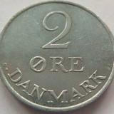 Moneda 2 Ore - DANEMARCA, anul 1971 *cod 3848 Zinc-UNC, Europa