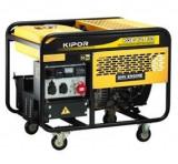 Generator de curent trifazat KIPOR KGE 12 E3, 9.5kVA, benzina, Generatoare digitale