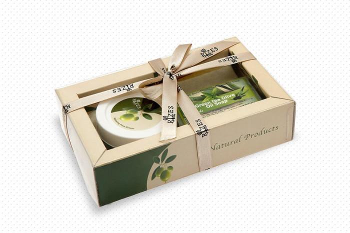Set crema picioare cu argan 80 ml si sapun cu ceai verde 100 gr Rizes foto mare